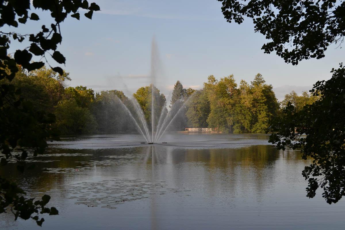 Wasserfontäne im Stadtpark
