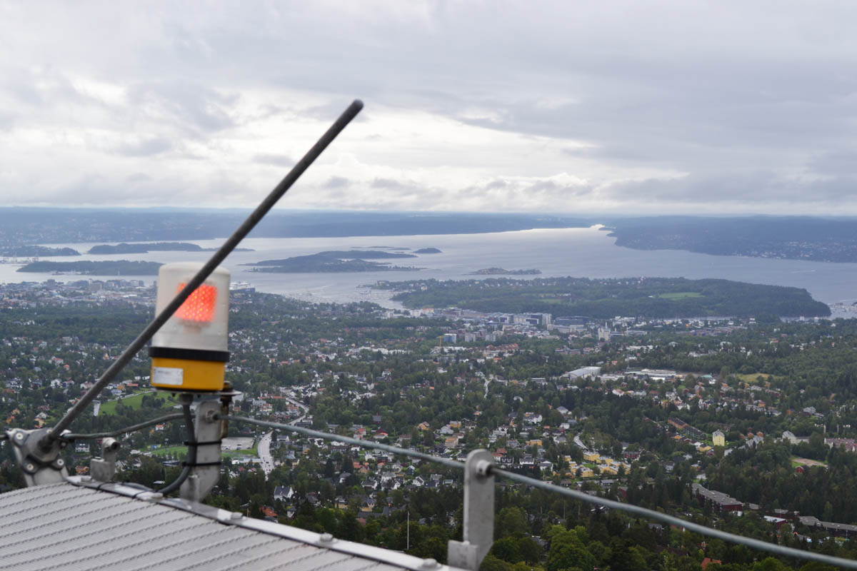 Blick von der Aussichtsplattform der Schanze