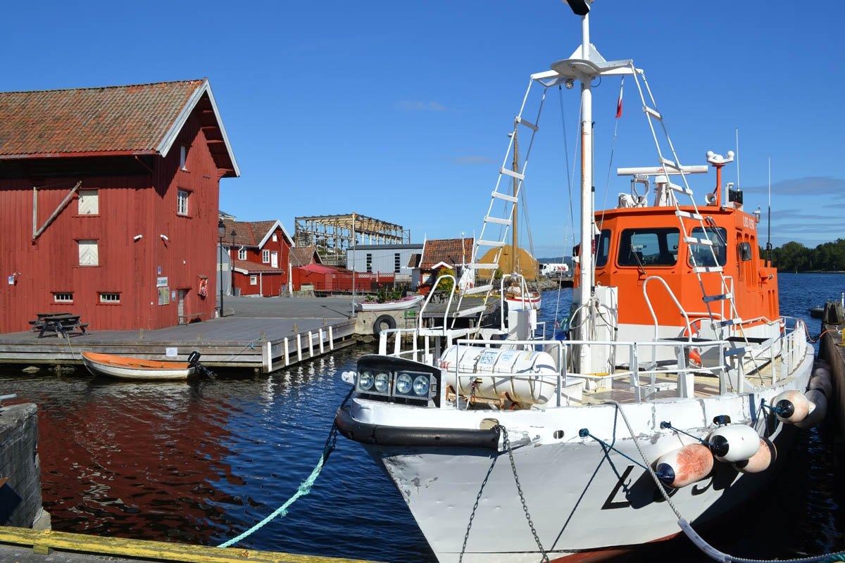 Langesund Hafen