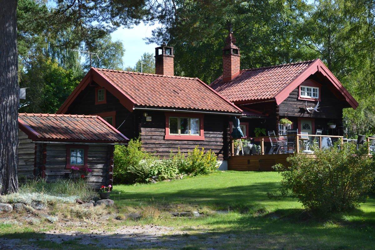 Urige Holzhäuser in Nusnäs
