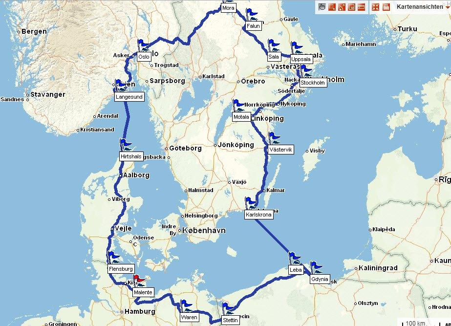 Rundreise Deutschland, Polen Schweden, Dänemark, Deutschland