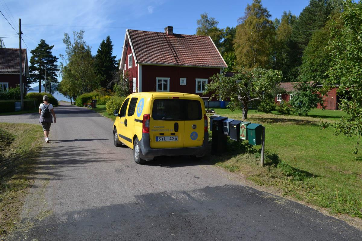Postzustellung auf Schwedisch