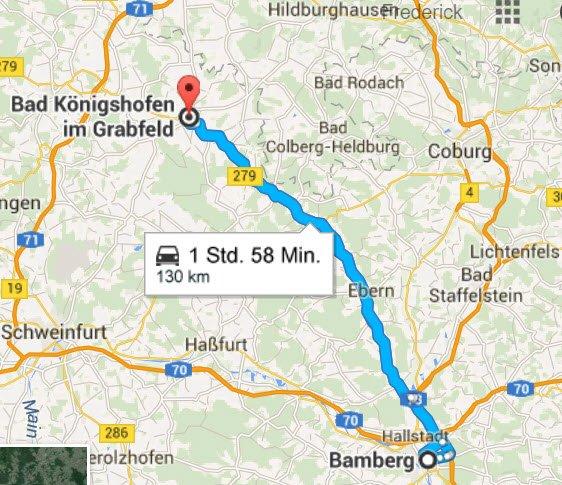 Bad Königshofen - Bamberg und zurück