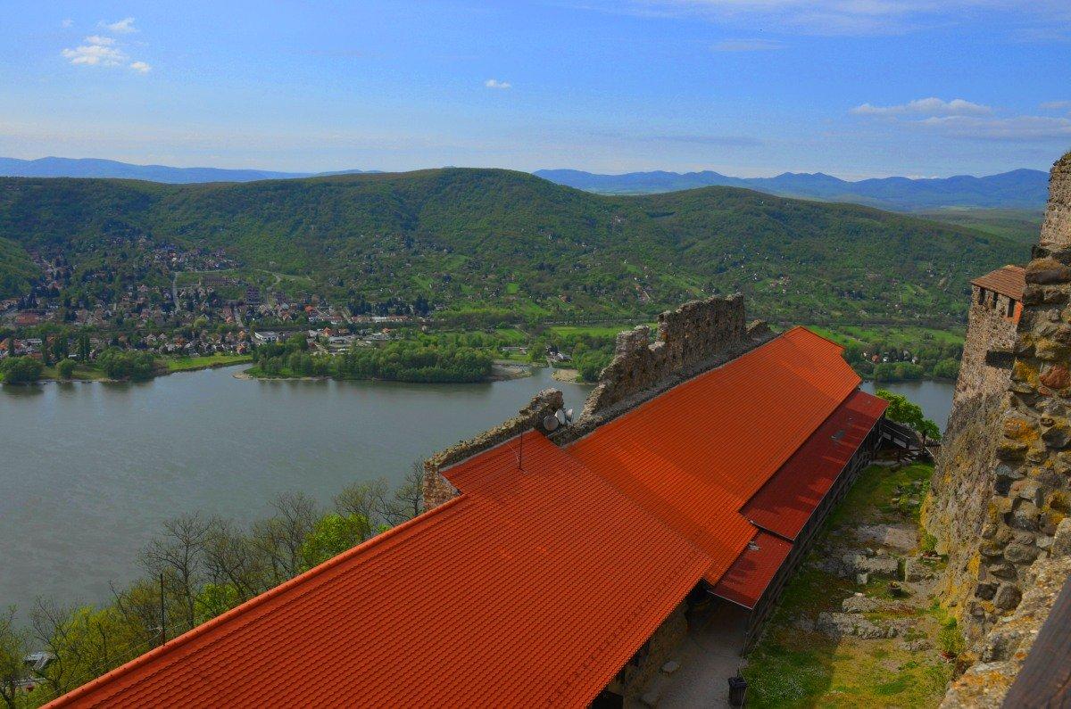 Donau-Panorama von der Burg aus gesehen