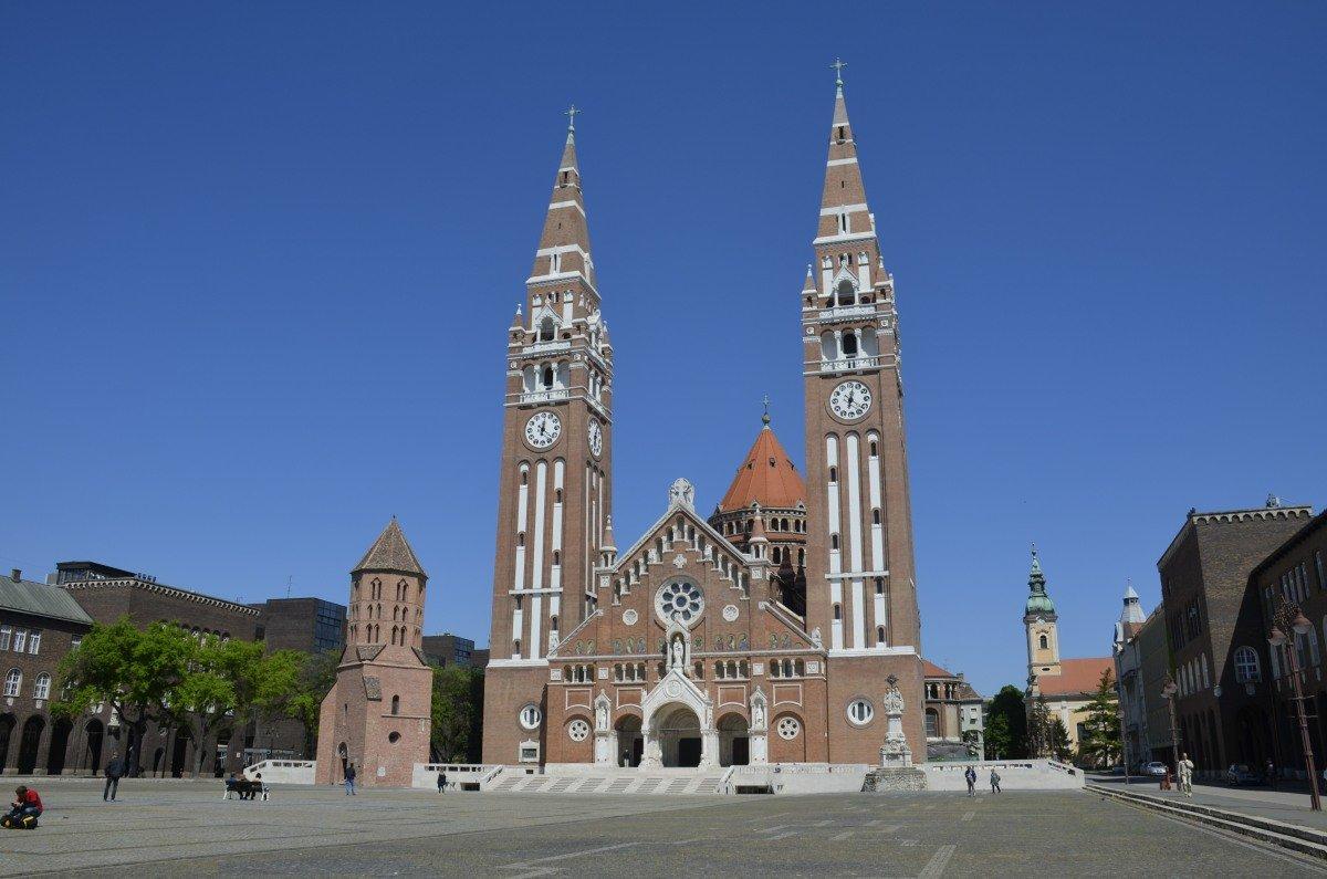 Die neue Kathedrale (Votivkirche) in Szeged