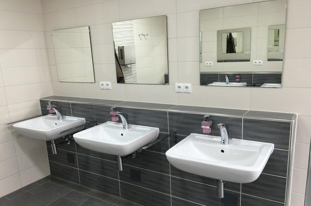 Hochwertige, sanitäre Anlage auf dem Stellplatz Frankentherme