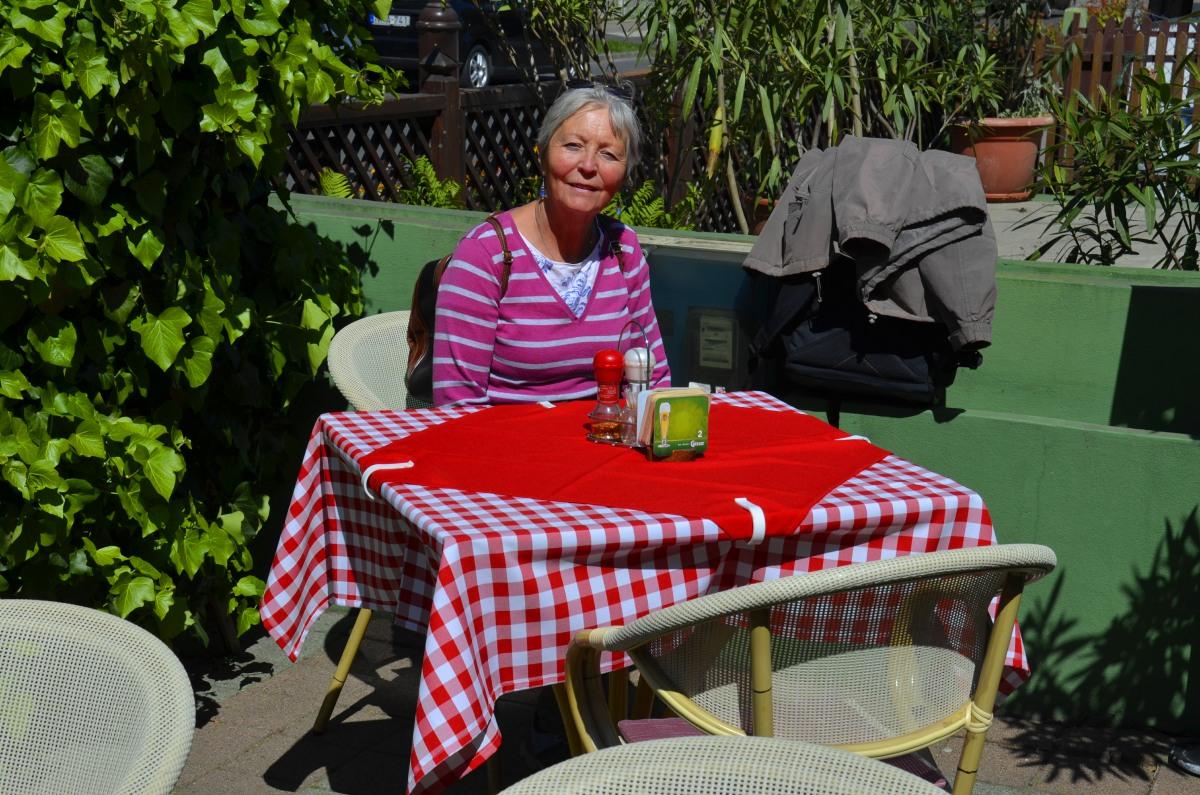 Schönes Wetter für unser Mittagessen im Freien