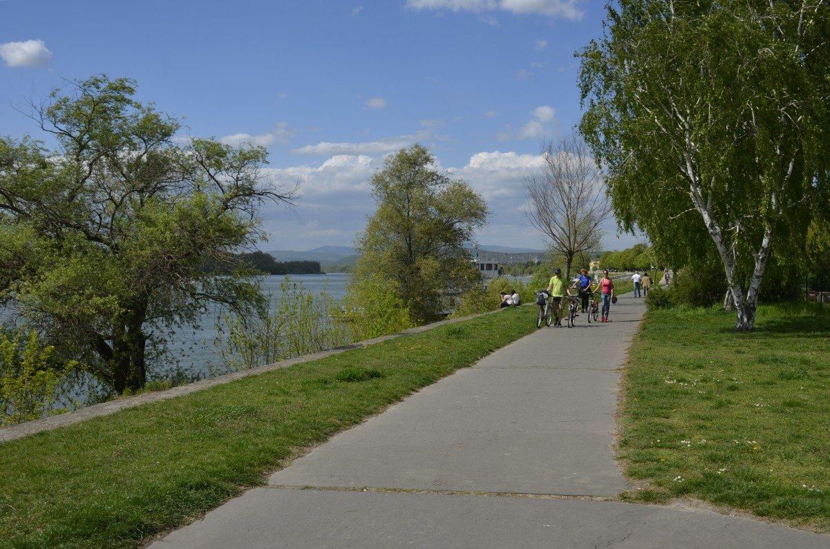 Wanderweg entlang der Donau