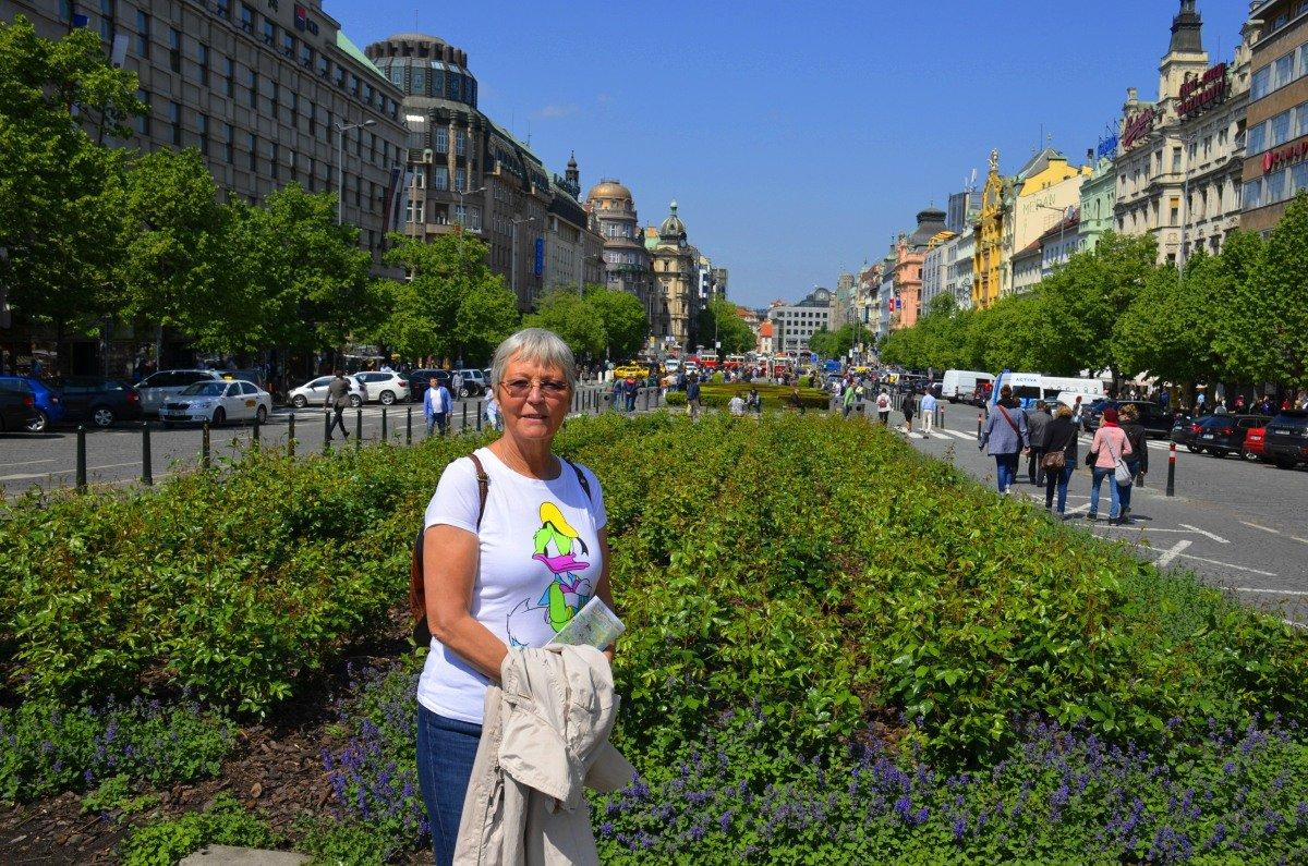 Anne auf dem Wenzelsplatz