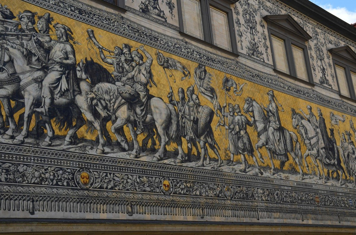 Der Fürstenzug des Hauses Wettin, ein beeindruckendes Kunstwerk