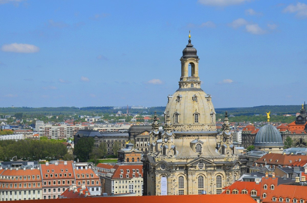 Frauenkirche vom Turm der Kreuzkirche aus fotografiert