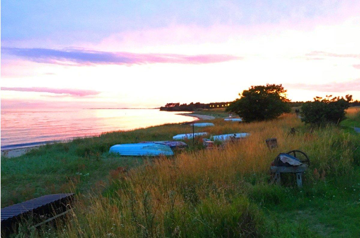 Die Bucht vor dem Stellplatz im Abendlicht