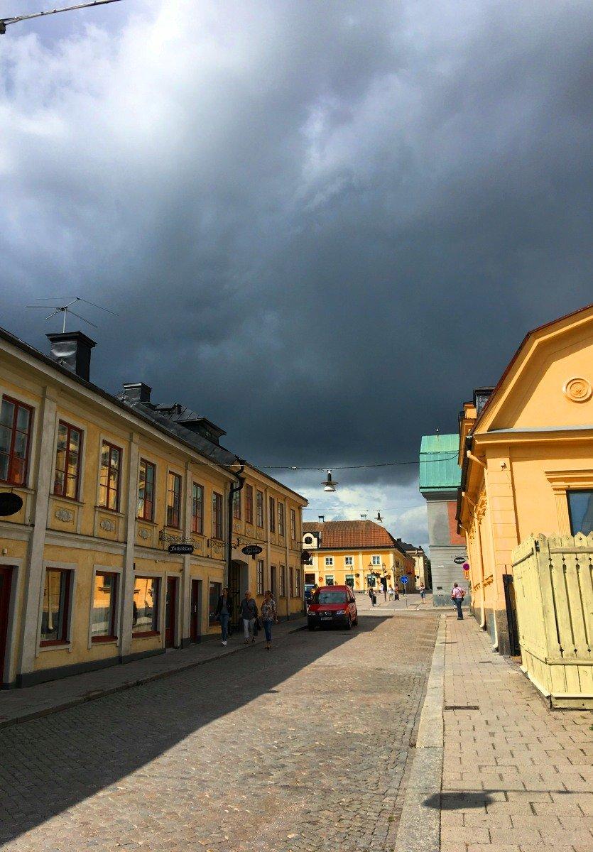 Drohender Regen in Arboga