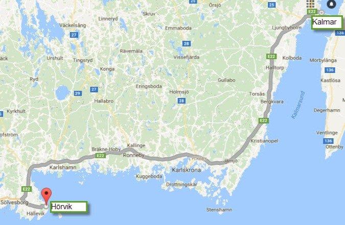 Kalmar - Horvik 172 km