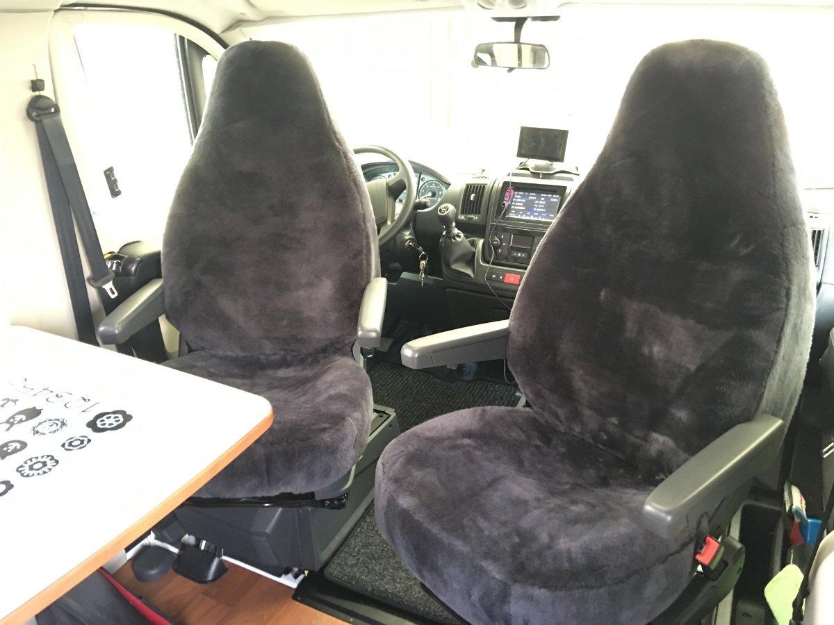 Die neuen Schaffell-Sitzbezüge