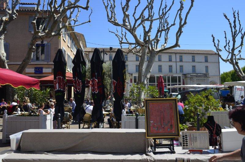 Marktathmosphäre in Carpentras