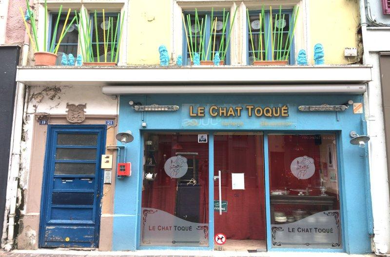 Traditionelle Ladenfront in Montbéliard