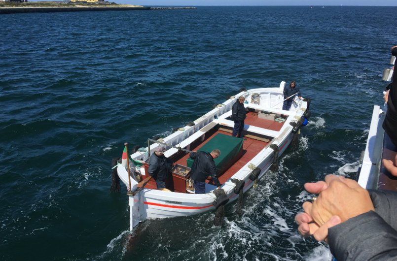 Börteboot für die Überfahrt zur Düne