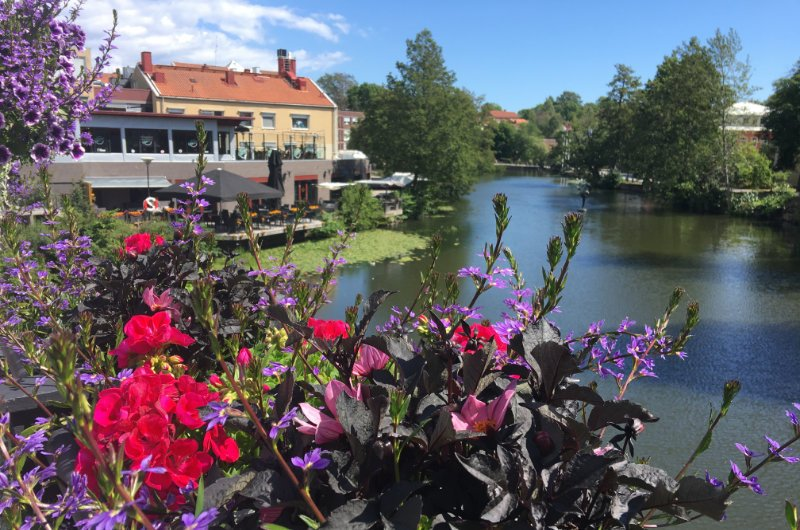 Blick auf die Nyköpings-Au