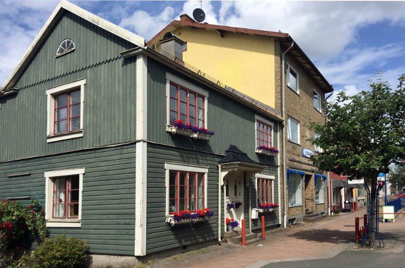 Traditionelle Architektur im Zentrum von Älmhult