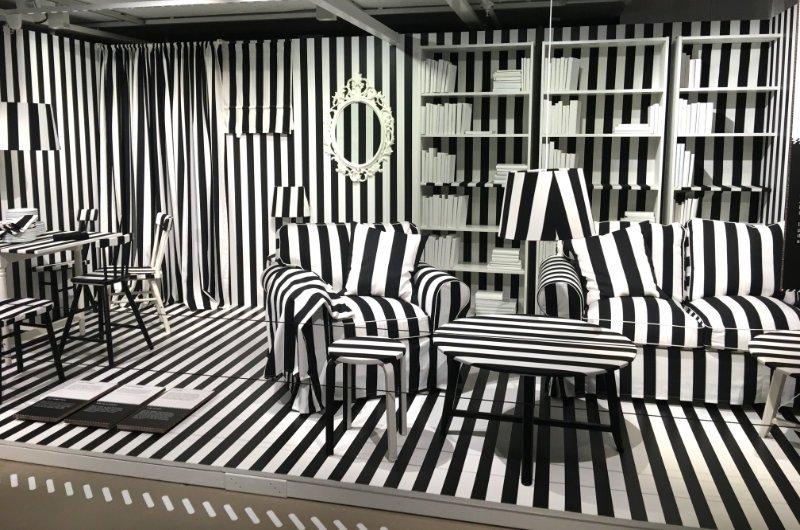 Wohnzimmer im Zebra-Designs