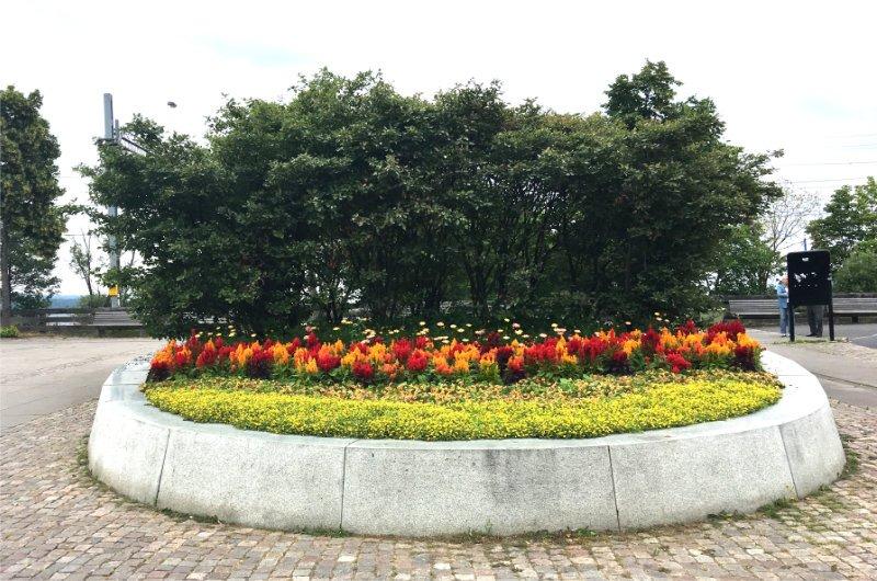 Schöne Blumendekoration in Jönköping