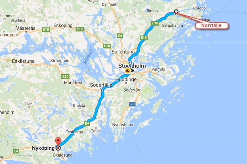 Norrtälje - Nyköping