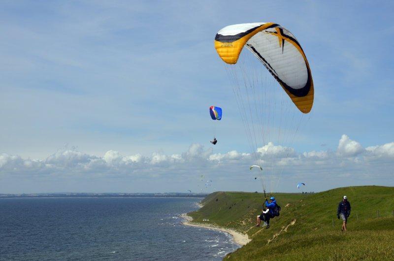 Tandemflug, Start oben auf dem Cliff