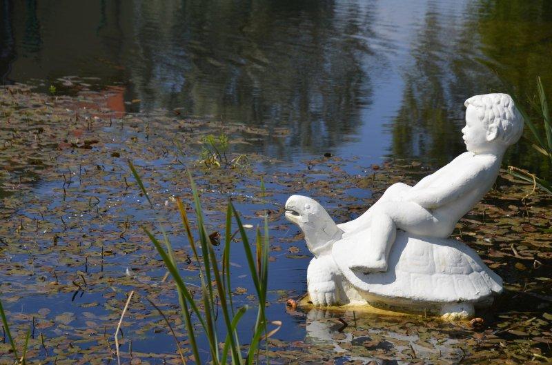 Wasserspiel im Park am See
