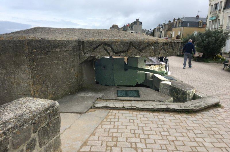 Panerabwehrkanone in St.-Aubin-sur-Mer