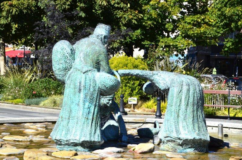 Statue der Muschelsammler