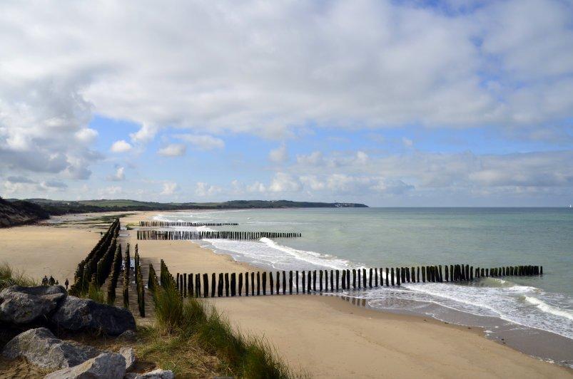 Buhnen am Strand von Wissant