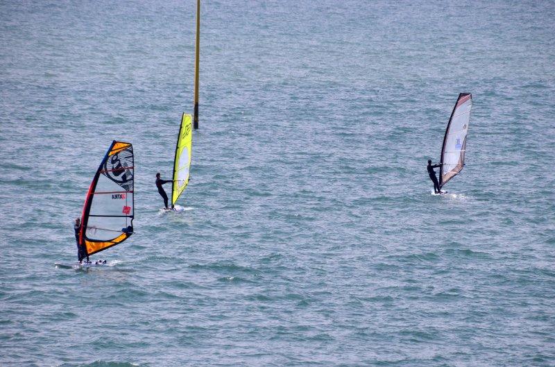 Windsurfer vor Granville