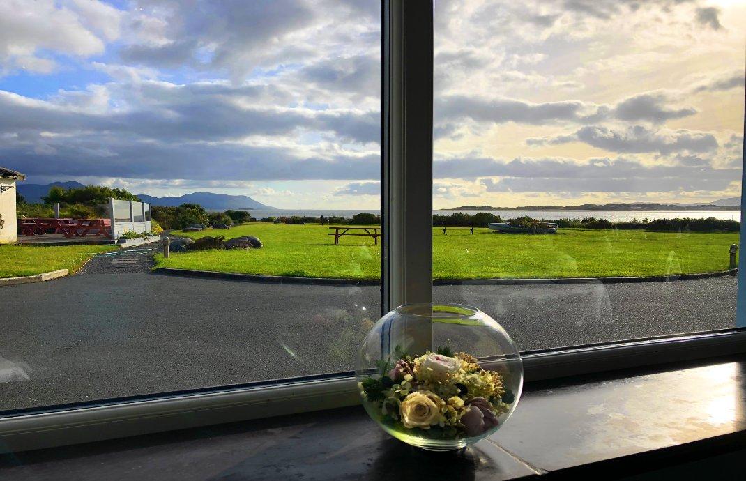 Blick aus dem Fenster des Restaurants