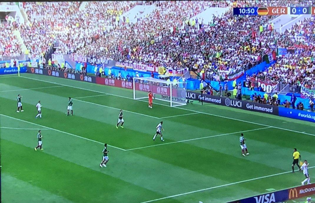Fußballspiel Deutschland - Mexiko 0-1