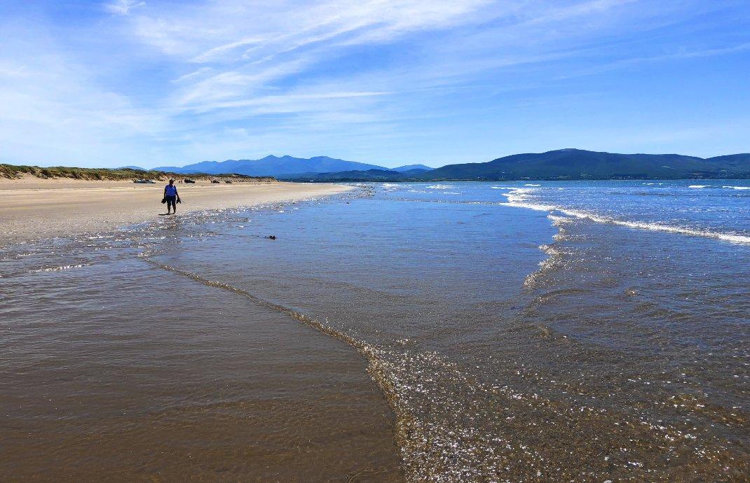 Der fast endlos erscheinende Strand