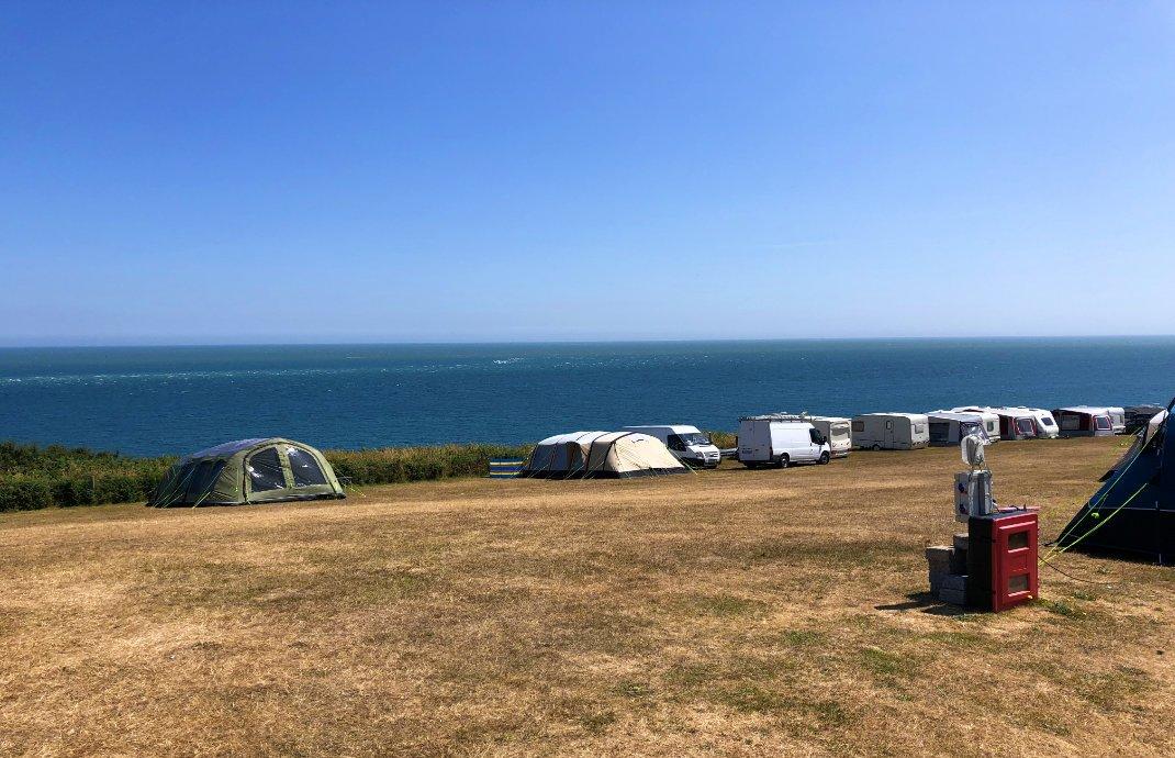 Blick vom Campingplatz auf die Irische See