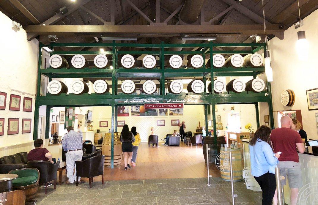Eingang zum Besucherzentrum der Destillerie