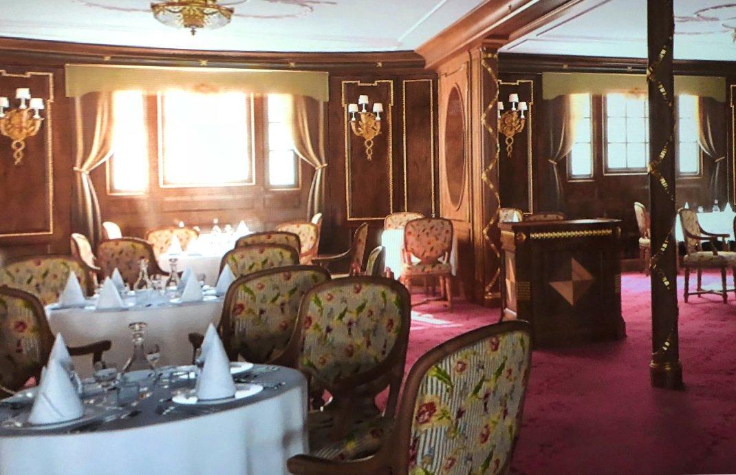So soll einer der Salons auf der Titanic einmal ausgesehen haben