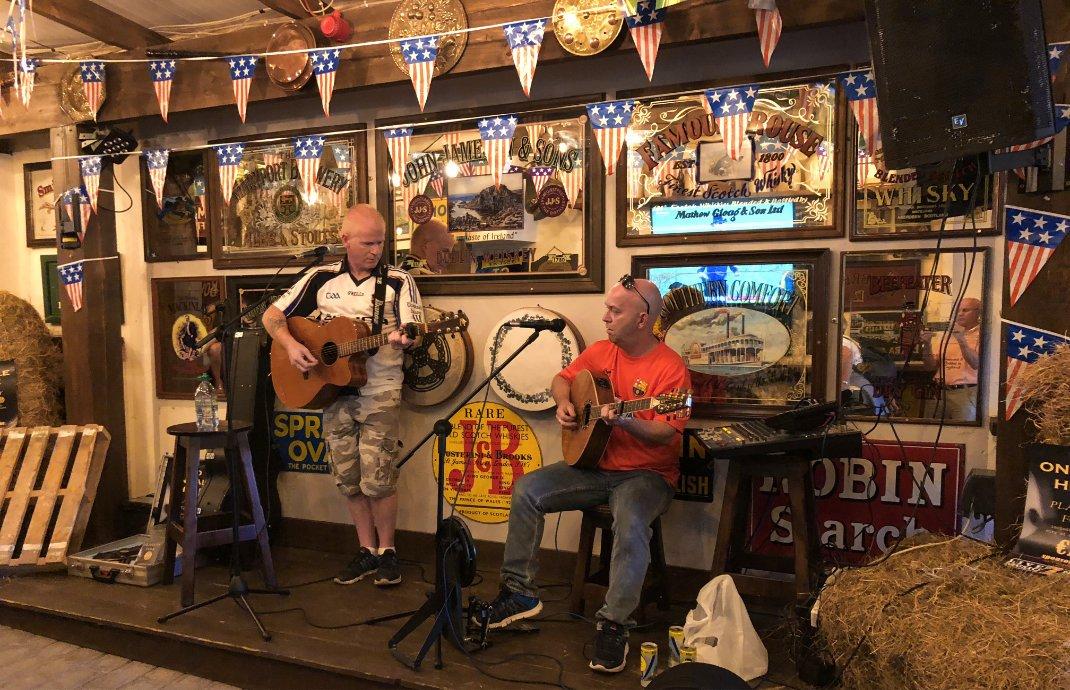 Echte irische Musik in McCaffertys Pub
