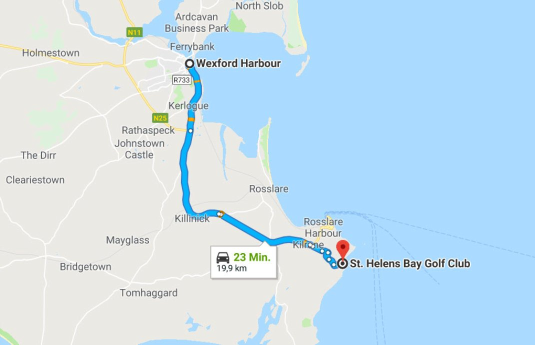 Wexford Hafen - Rosslare (St. Helens Bay Golf Resort)