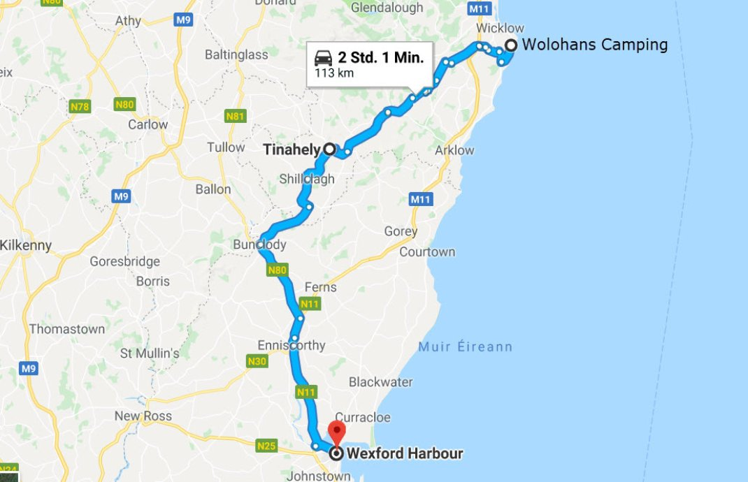 Wolohan`s Camping - Tinahely's Farm - Wexford Harbour