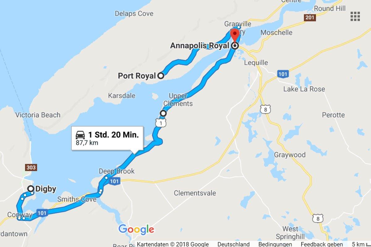 Annapolis - Royal Port - Digby, zurück nach Annapolis