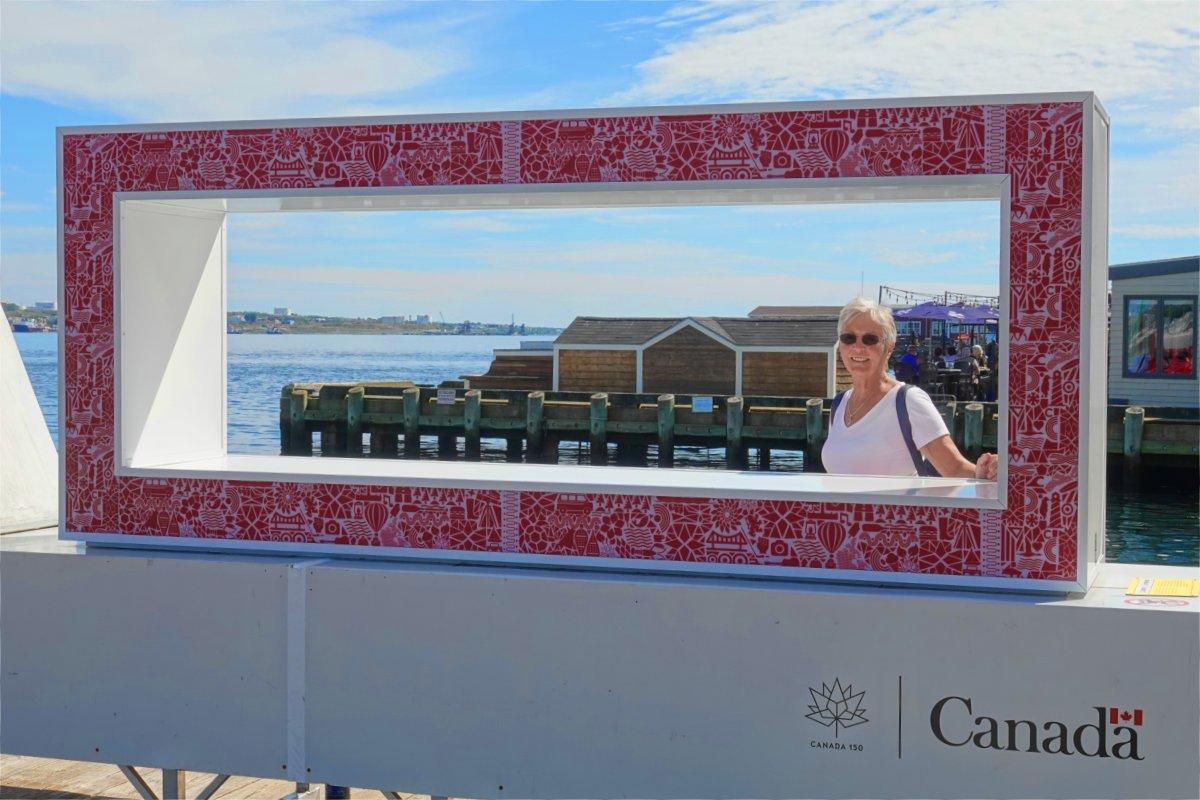 Anne, eingerahmt am Hafen von Halifax