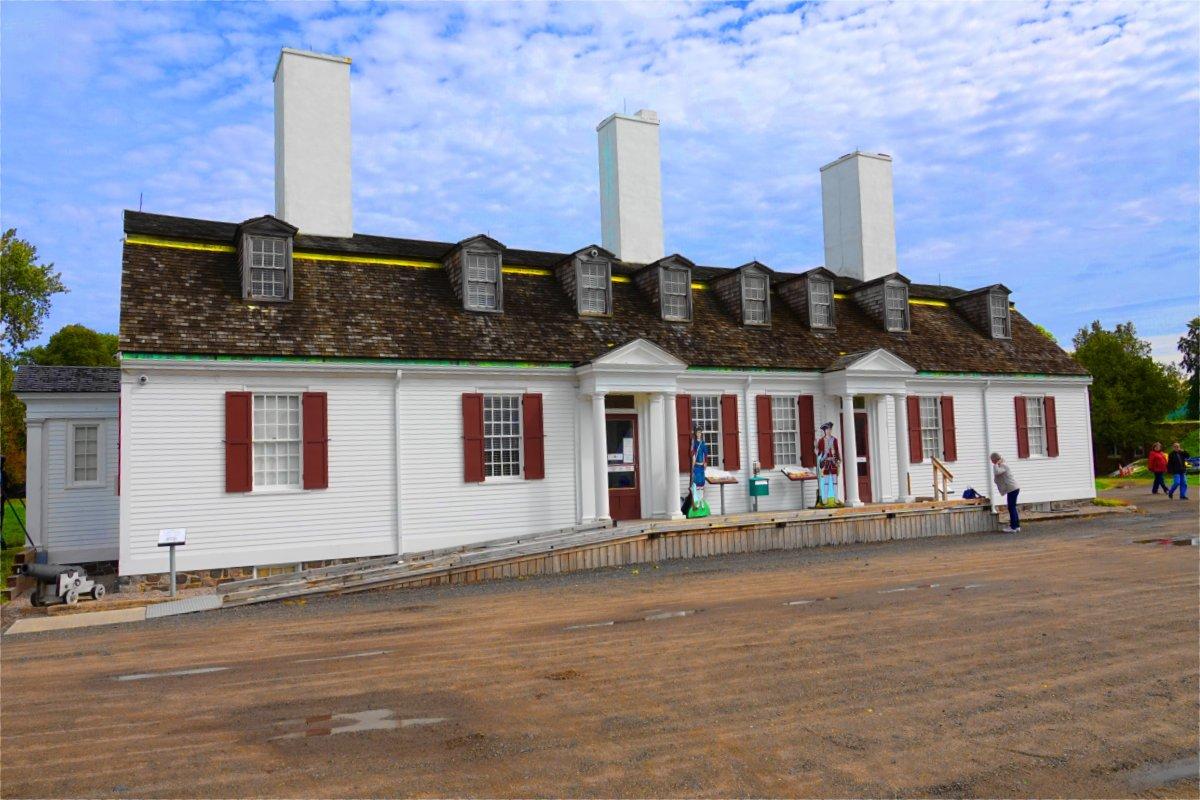 Haupthaus von Fort Anne - Heute ein Museum