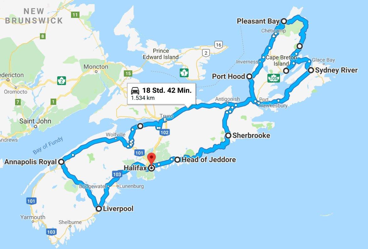 Nova Scotia Rundreise