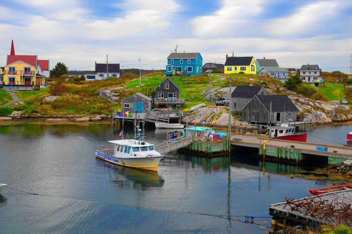 Das idyllische Dorf Peggys Cove