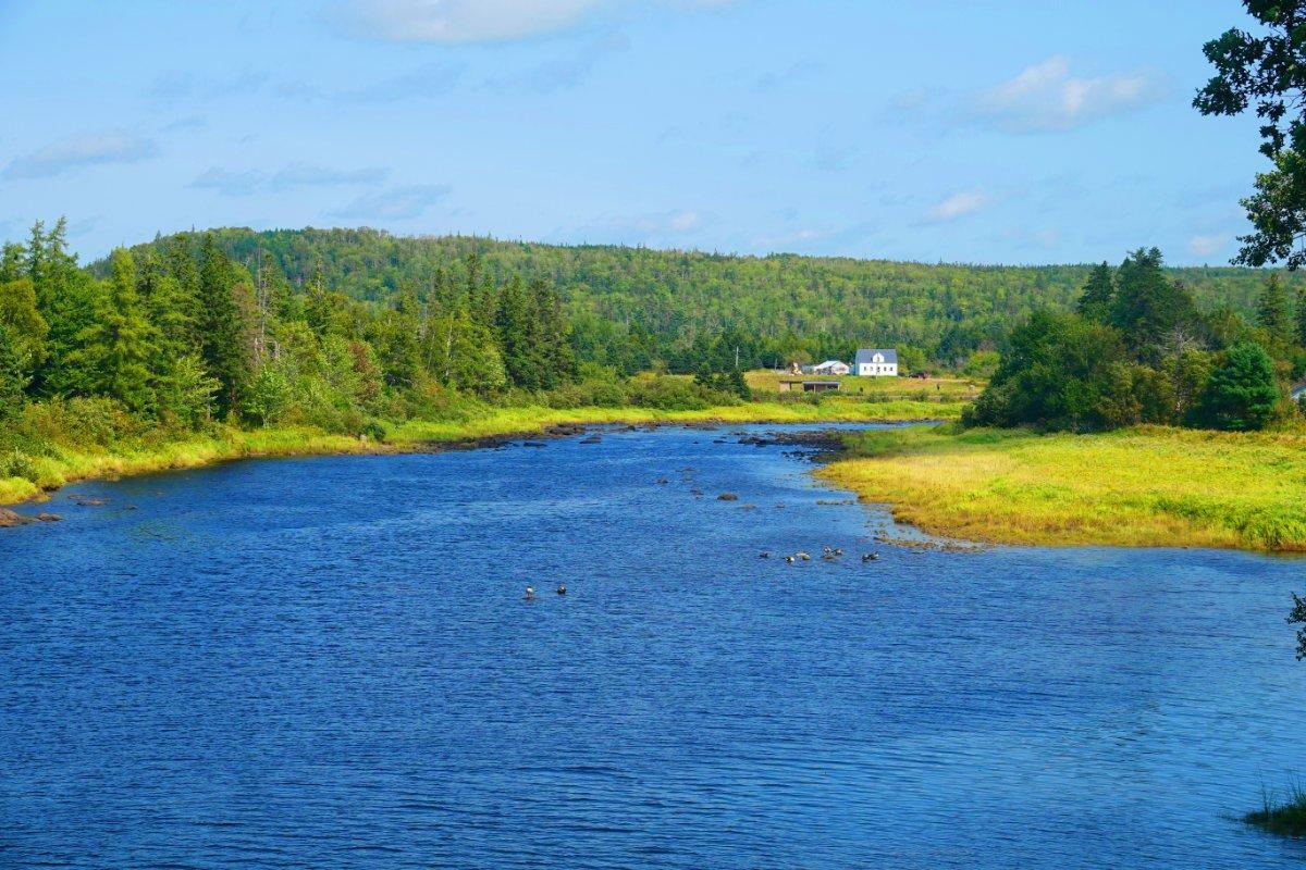 St. Marys River in Sherbrooke