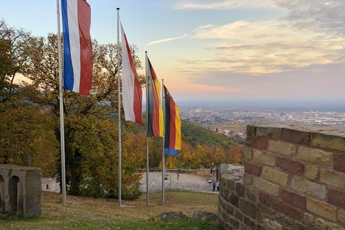 Blick auf Neustadt vom Hambacher Schloss