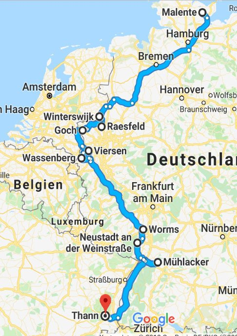 Malente-Winterswijk-Raesfeld-Goch-Viersen-Wassenberg-Worms-Neustadt/Weinstr)-Mühlacker-Thann